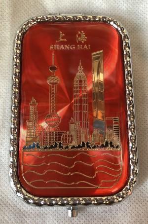 Cermin Lipat Shanghai merah