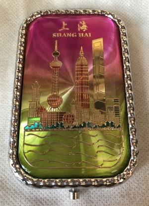 Cermin Lipat Shanghai pink