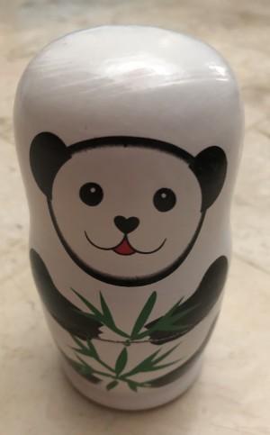 Boneka Kayu Matrioska Panda Beijing China