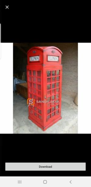 Order custom ibu dilla lemari telephone london dan cermin bundar
