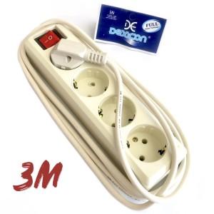 Stop Kontak Dexicon 4 Lubang Kabel 3 Meter   Colokan Terminal L4 3M