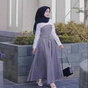 Dress tartan tasya