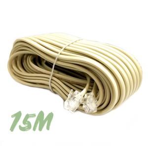 Kabel Telephone Kitani 15 Meter   Telepon 4 Pin RJ11 15M