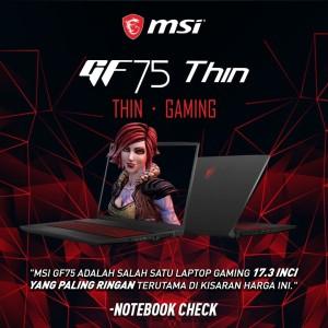 NEW MSI GF75-9RCX 270ID Thin Gaming NoteBook