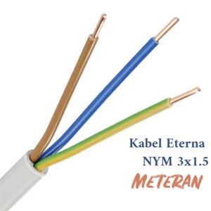 Kabel Eterna NYM 3X1.5 Meteran