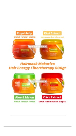 Jual Hair Mask Makarizo Hair Energy Fibertherapy Jakarta Utara Sherly Cosmetic Tokopedia