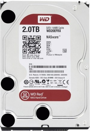 Western Digital WD Red (WD20EFRX) - 2 TB, SATA3, IntelliPower