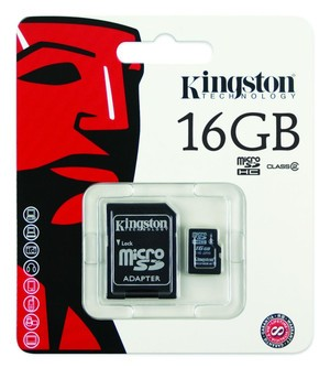 Kingston microSDHC Card  Class 4 - 16 GB