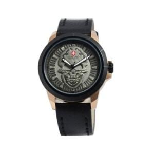 Jam Tangan Swiss Army 3010 Skull Black Rose Gold