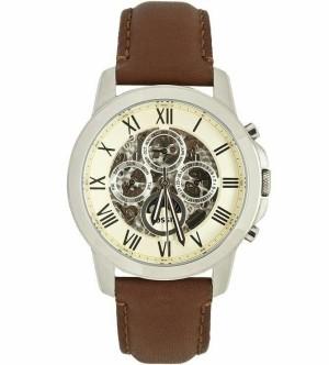 Jam Tangan Fossil ME3027 Grant White Skeleton Dial