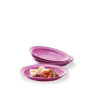 Tupperware Purple Daisy Plate