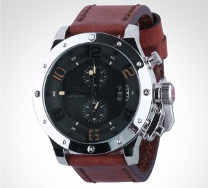 Jam Tangan Expedition E6381 Brown Leather Silver