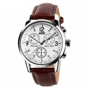 Jam Tangan SKMEI 9070 CL Brown Leather