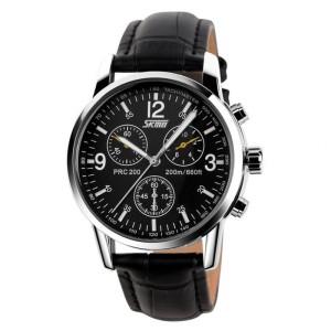 Jam Tangan SKMEI 9070 CL Black Leather