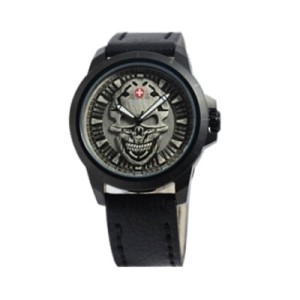 Jam Tangan Swiss Army 3010 Skull Full Black