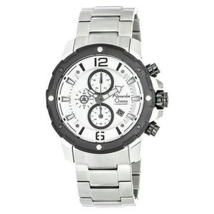Jam Tangan Alexandre Christie 6410 Silver White