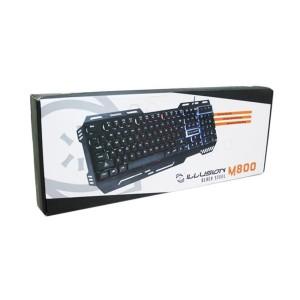 Illusion Gaming Keyboard Black Steel Chroma M-800