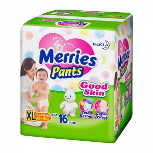 Merries Good Skin Popok Celana XL Isi 16