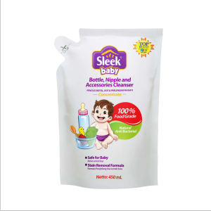 Sleek Bottle, Nipple, and Baby Accessories Cleanser 450 ml