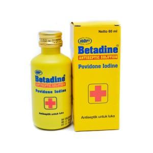 Betadine Antiseptic Solution - 60 mL