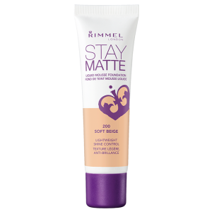Rimmel Stay Matte Liquid Mousse Foundation - Soft Beige - 30 mL
