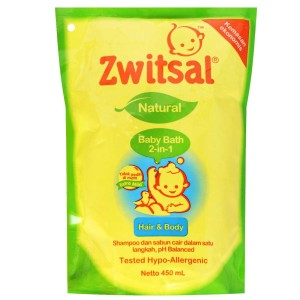 Zwitsal Natural Baby Bath 2in1 450 ml