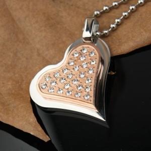 Gold Diamond Heart