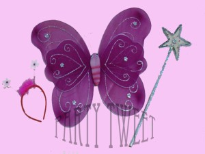Costumes Accessories - Butterfly Wings With Head Band & Fairy Wand