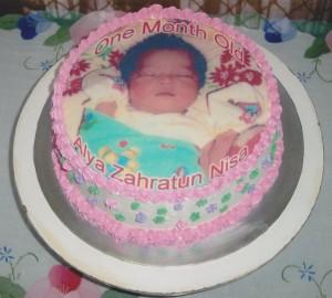 Kue Bayi 1 Bulan Dengan Edibel