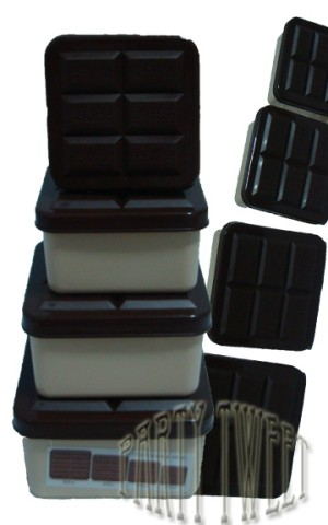 Lunch Box - Chocolate Bars - Set Of 4