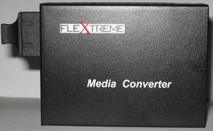 Flextreme FL-8110SA-11-20Media Converter 10/100 Mbps To 100FX, Single-Mode 20Km, SC