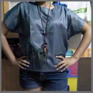Grey Shiny Shirt