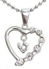 Kalung Silver Diamond Lover