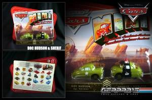 Doc Hudson & Sheriff ARMY - Cars Mini - Mattel - MOC