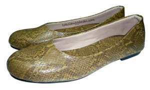 Flat Shoes Snake Brown