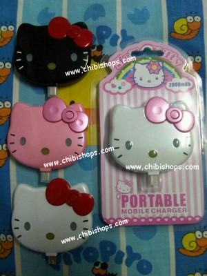 Charger PortabLe HeLLo Kitty Face