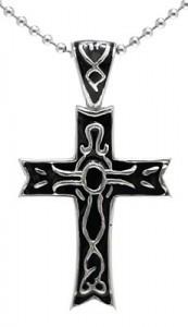 kalung salib Black Santo Cross