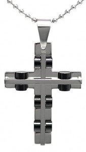 kalung salib Black Wheel Cross