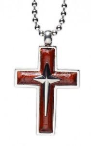 kalung salib Maroon Cross