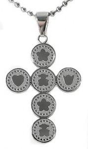 kalung salib Silver Bear Cross