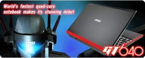 MSI GT640 | Core I7 720QM + BLURAY + Genuine Windows 7 Home Premium
