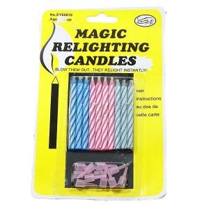 Magic relighting candles (Lilin Yang Gak Bisa Mati) - Isi 10 Lilin