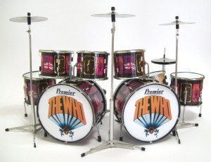 "Miniatur Drumset Picture Of Lilly, Keith Moon ""The Who"""