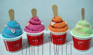 Made Of Towel - Ice Cream Cup
