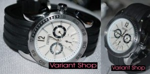 Ferrari Rubber Chrono Edition White Dial