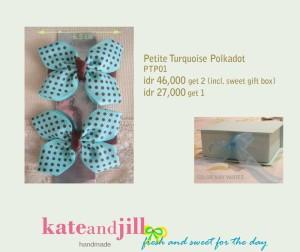 PITA JEPIT Petite Turquoise Polkadot