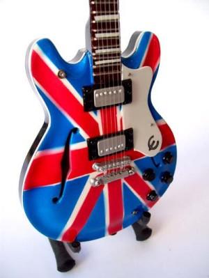 Miniatur Gitar Epiphone Union Jack Noel Gallagher OASIS