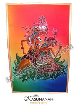Batik Painting Wayang Rama Shinta Color