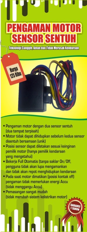 Kunci Rahasia Anti Maling Pengaman Motor Invisible Dengan Sensor Sentuh Ganda & AutoLock System (Ada Harga Grosir)