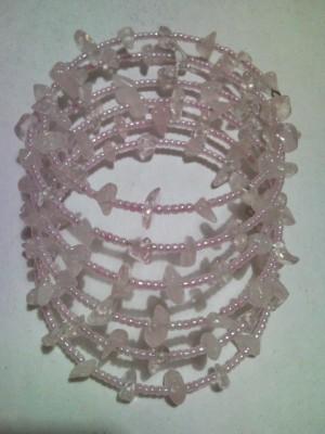 Gelang Lilit Manik Kerikil (Pink)